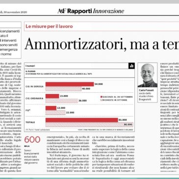 "Atty Carlo Fossati on shock absorbers in the Covid-19 crisis, interview on ""Repubblica"""